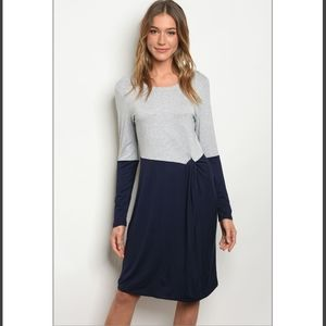 Gray and Navy blue comfy dress